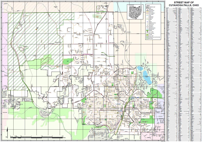 Fairlawn Ohio Map.Street Map Of Cuyahoga Falls Ohio