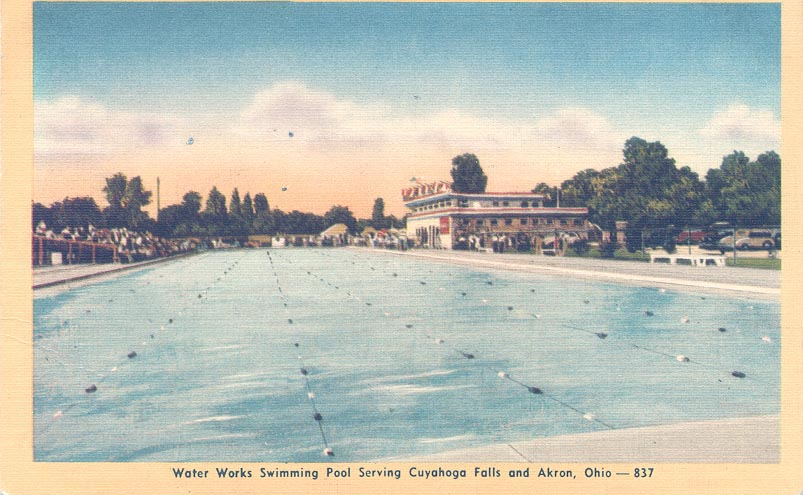 Water Works Family Aquatic Center post card circa 1945.