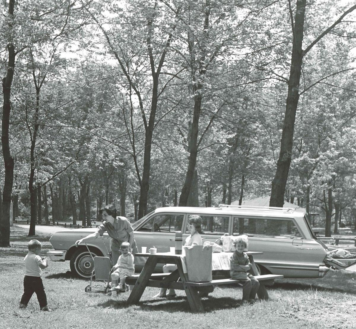 1960's family enjoying park life in Cuyahoga Falls