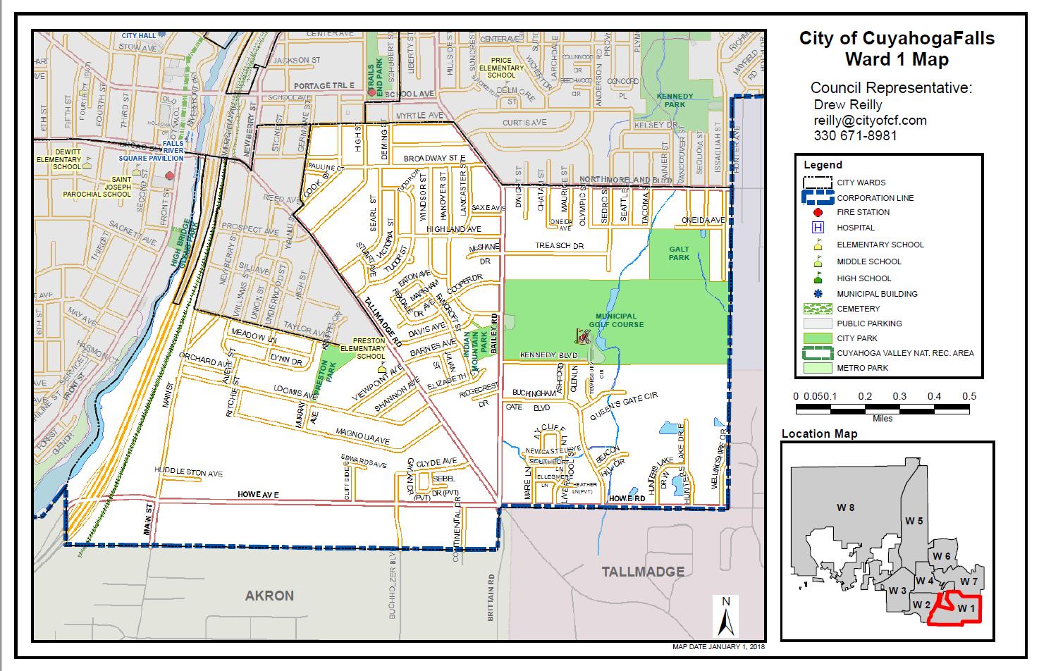Ward One City of Cuyahoga Falls